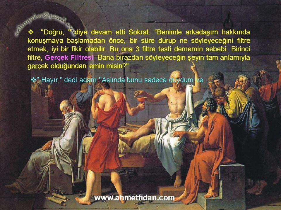 Doğru, diye devam etti Sokrat