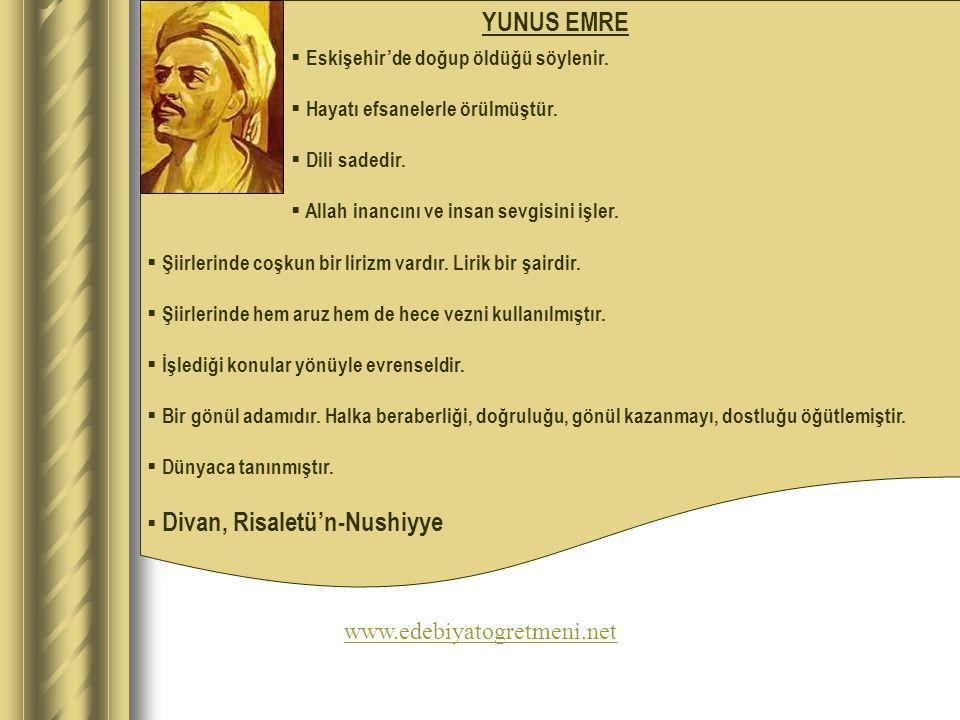 YUNUS EMRE www.edebiyatogretmeni.net