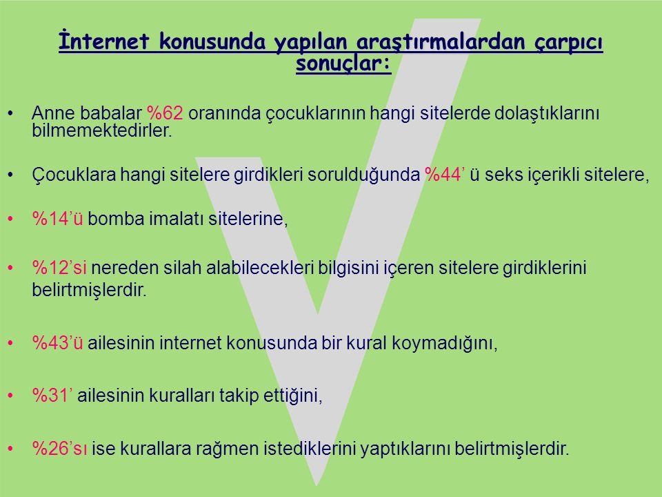 İnternet konusunda yapılan araştırmalardan çarpıcı sonuçlar:
