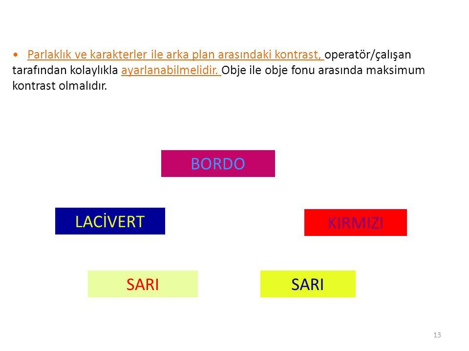 BORDO LACİVERT KIRMIZI SARI SARI