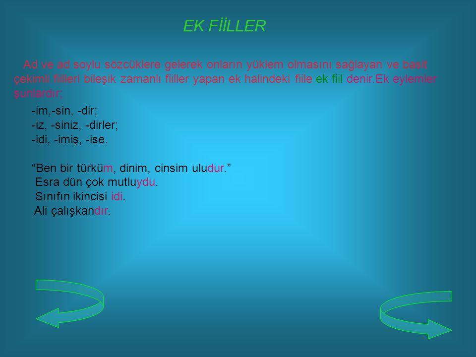 EK FİİLLER