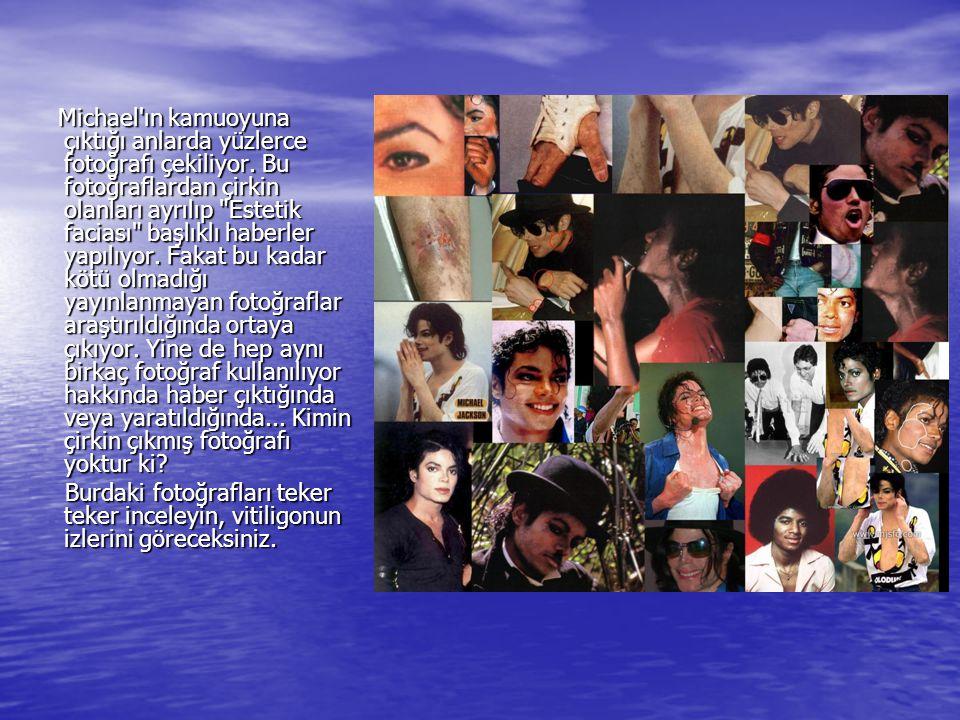 Michael ın kamuoyuna çıktığı anlarda yüzlerce fotoğrafı çekiliyor