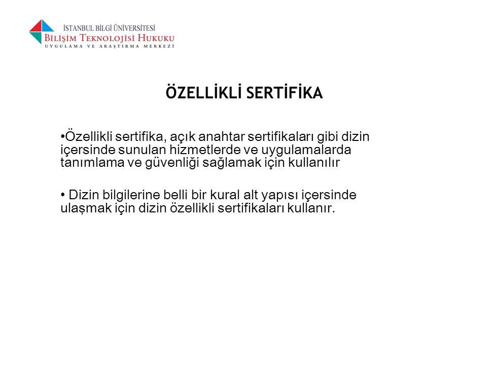 ÖZELLİKLİ SERTİFİKA