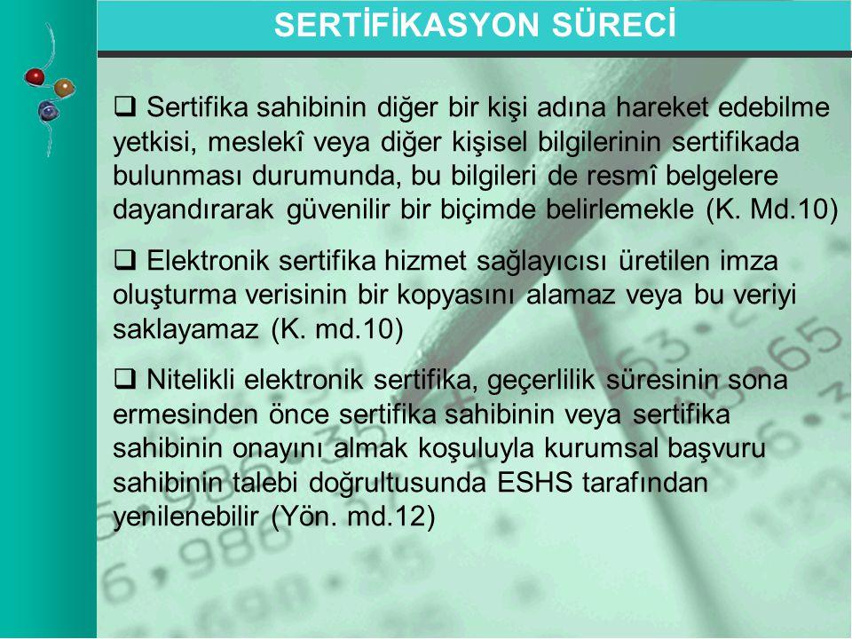 SERTİFİKASYON SÜRECİ