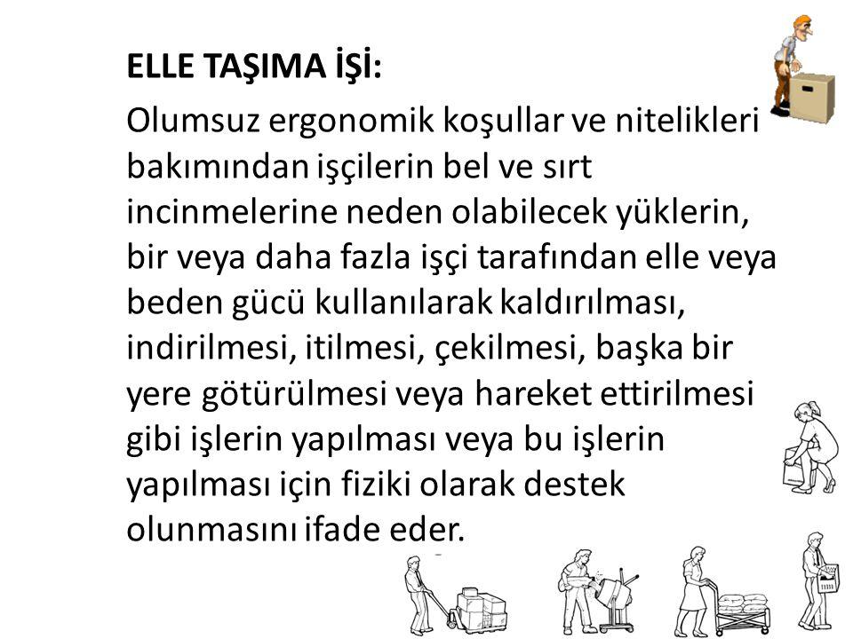 ELLE TAŞIMA İŞİ: