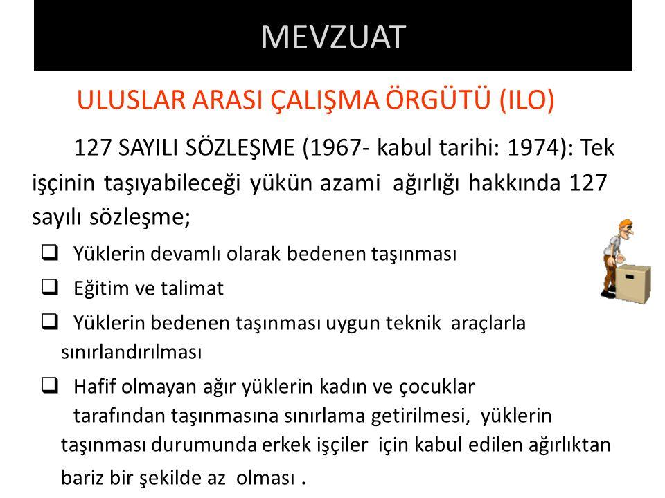 ULUSLAR ARASI ÇALIŞMA ÖRGÜTÜ (ILO)