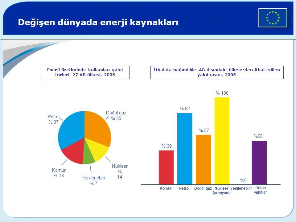 Enerji üretiminde kullanılan yakıt türleri 27 AB ülkesi, 2005