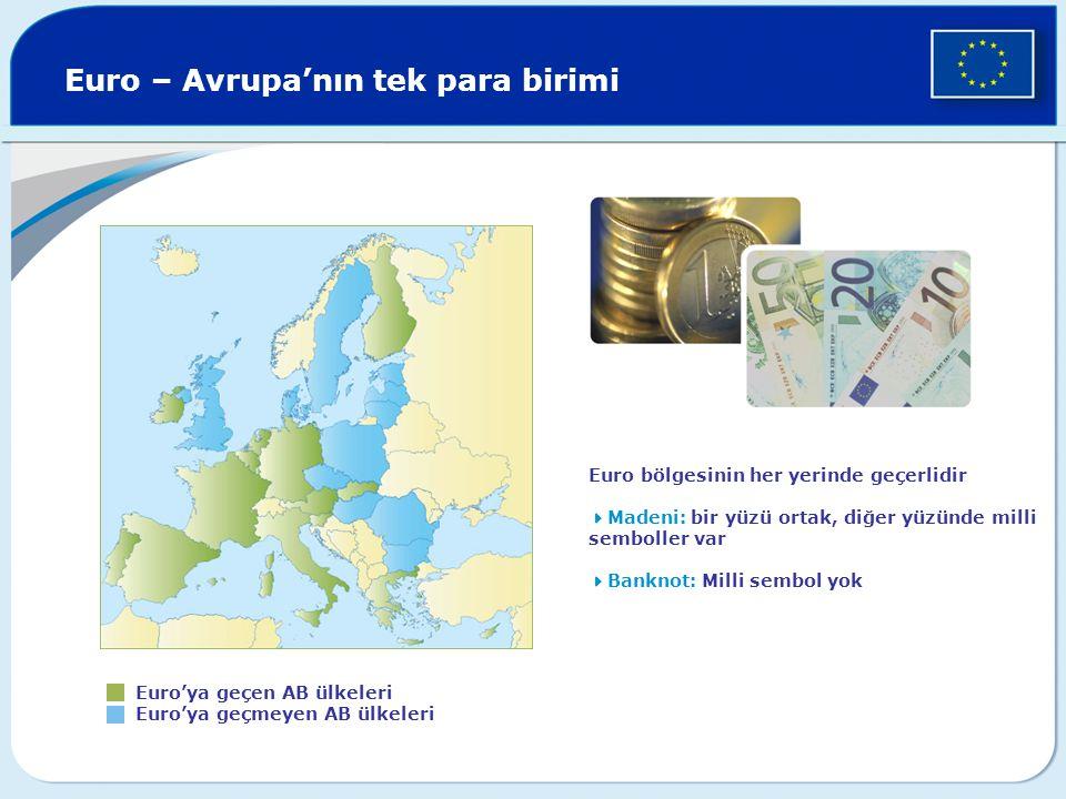 Euro – Avrupa'nın tek para birimi