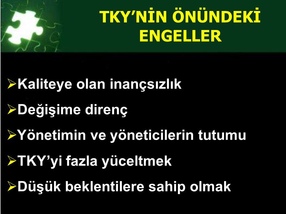 TKY'NİN ÖNÜNDEKİ ENGELLER