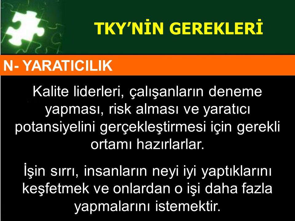 TKY'NİN GEREKLERİ N- YARATICILIK