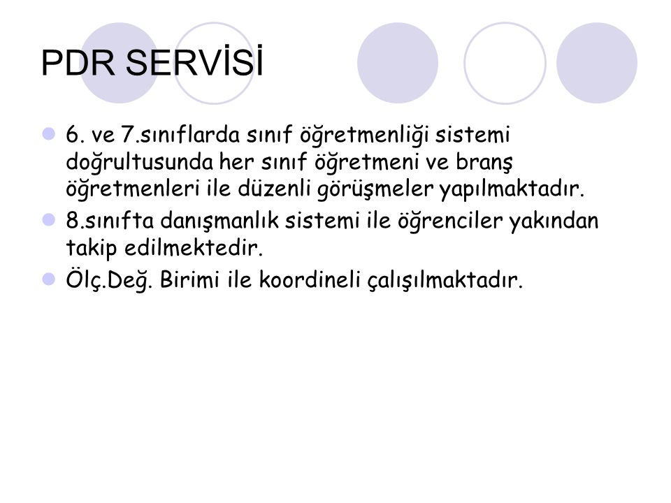 PDR SERVİSİ