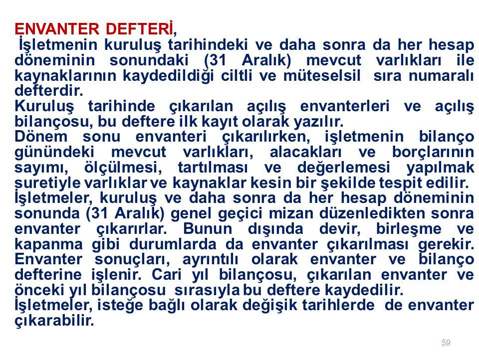 ENVANTER DEFTERİ,