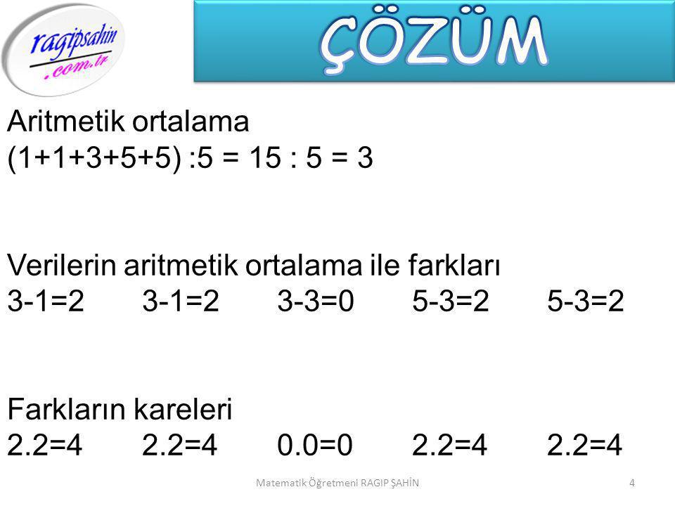 Matematik Öğretmeni RAGIP ŞAHİN