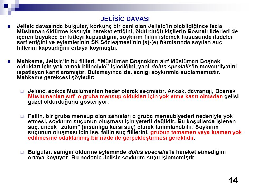 JELİSİC DAVASI