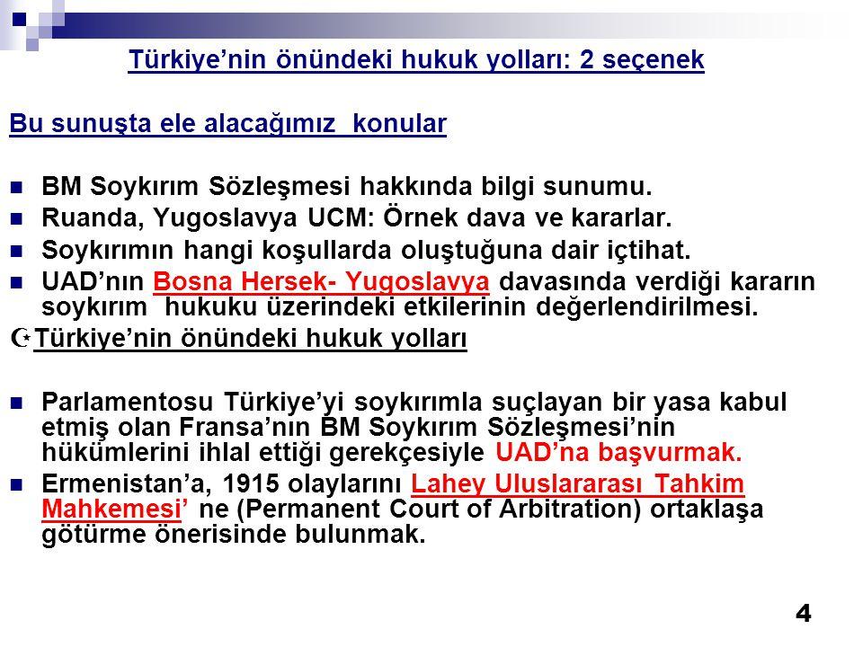Türkiye'nin önündeki hukuk yolları: 2 seçenek