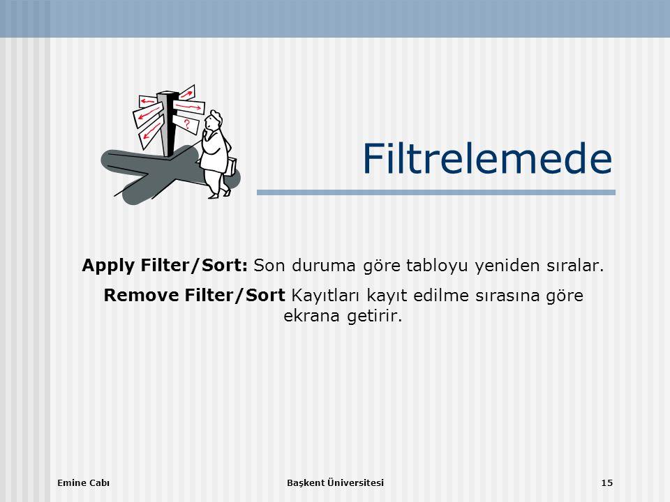 Apply Filter/Sort: Son duruma göre tabloyu yeniden sıralar.