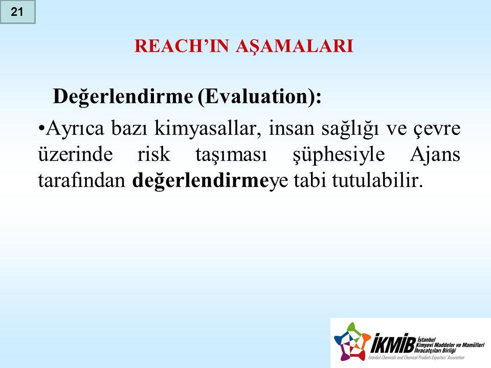 Değerlendirme (Evaluation):