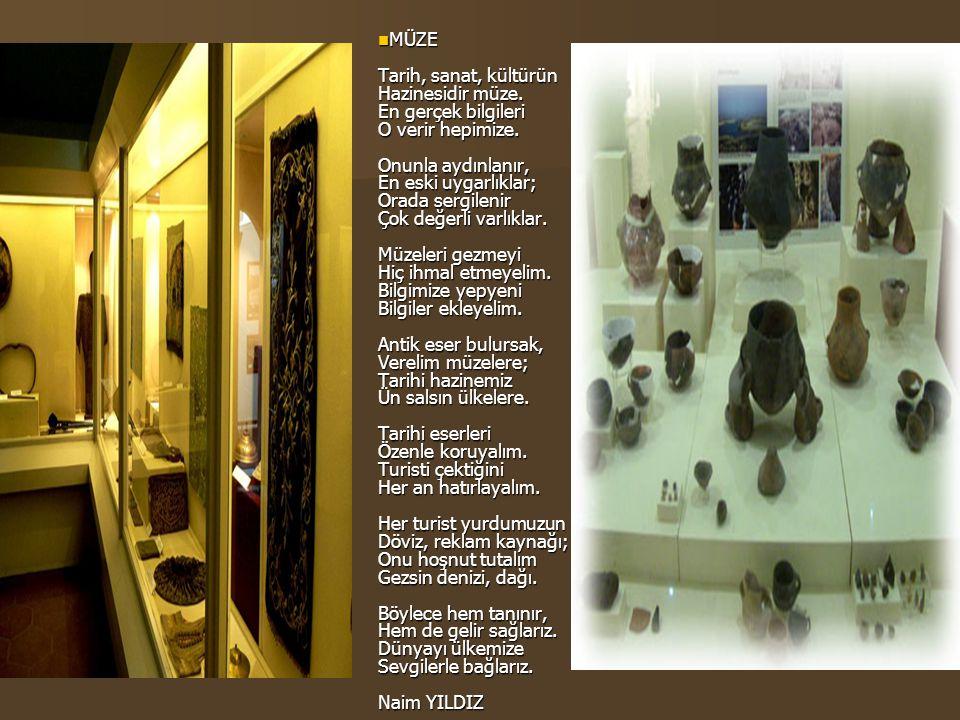 MÜZE Tarih, sanat, kültürün Hazinesidir müze