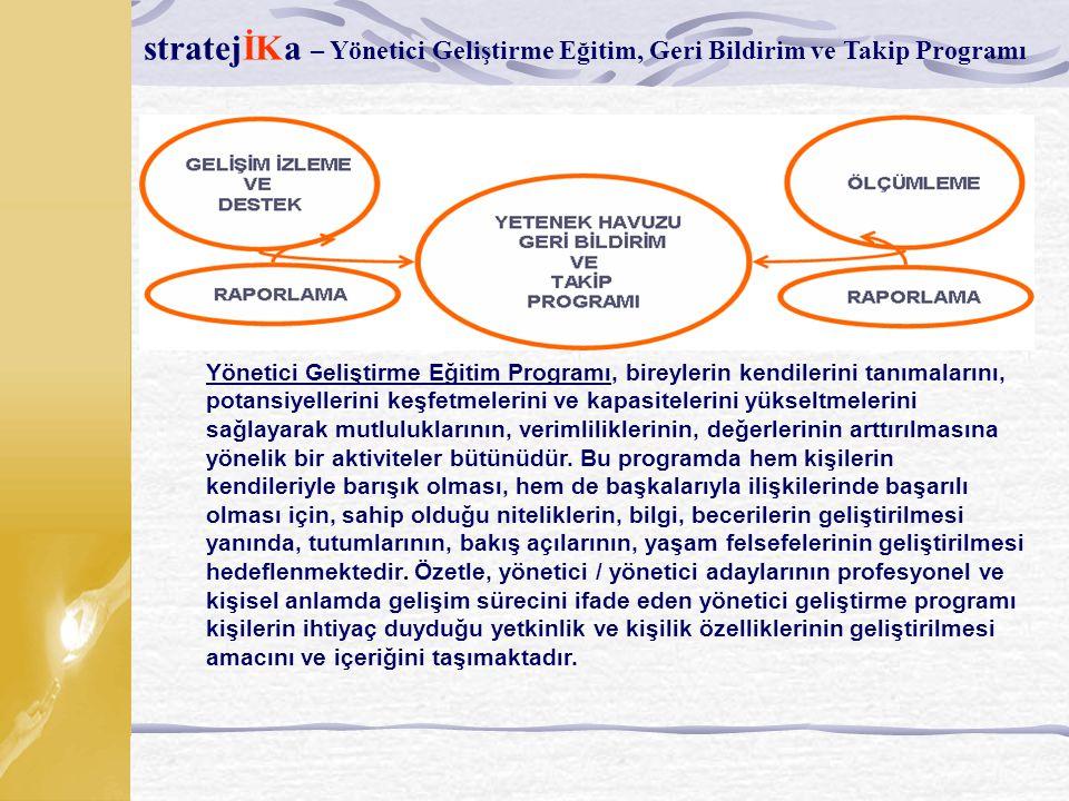 stratejİKa – Yönetici Geliştirme Eğitim, Geri Bildirim ve Takip Programı