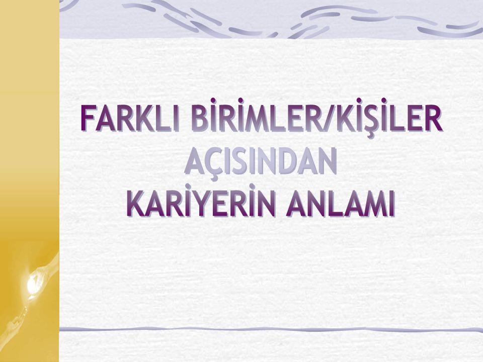 FARKLI BİRİMLER/KİŞİLER