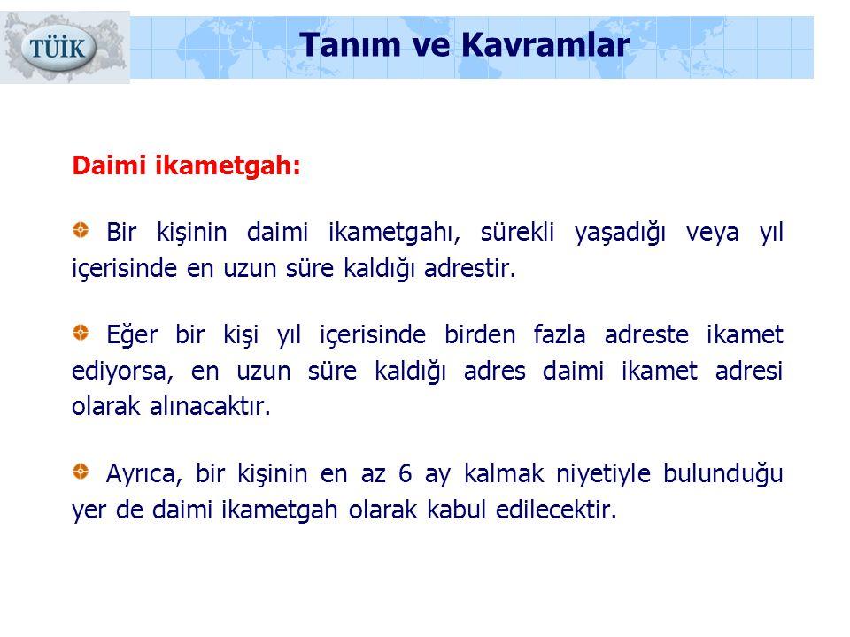 Tanım ve Kavramlar Daimi ikametgah: