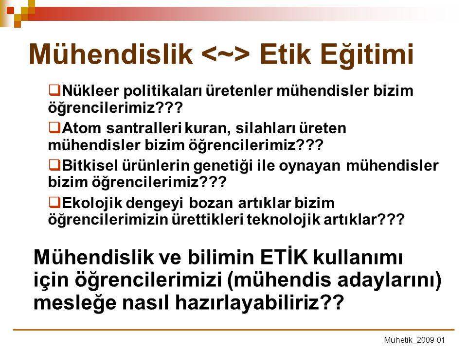 Mühendislik <~> Etik Eğitimi
