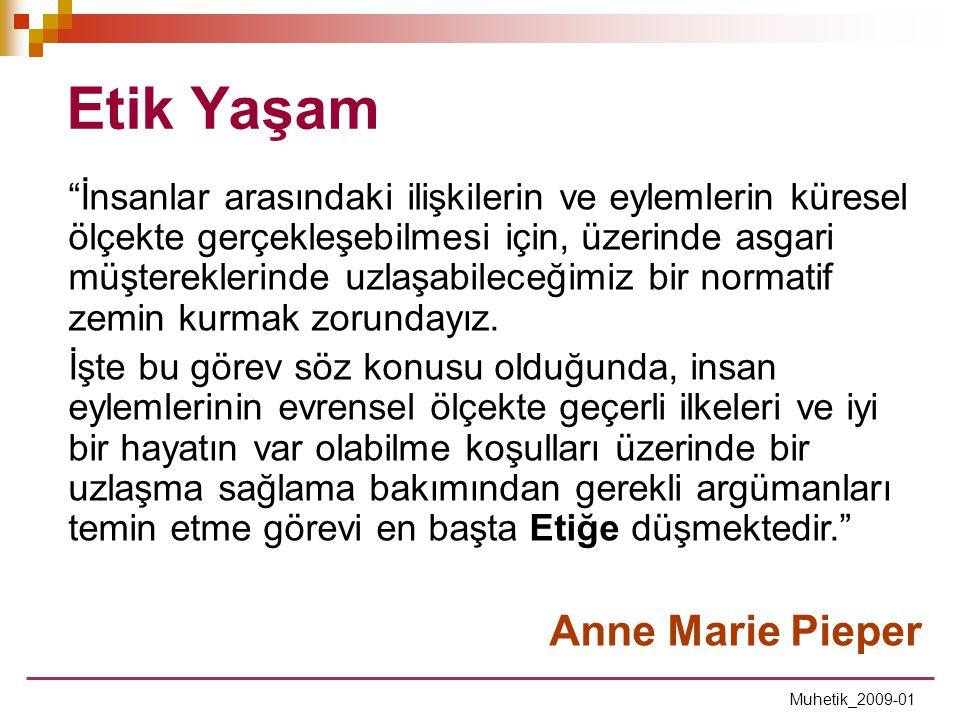 Etik Yaşam Anne Marie Pieper