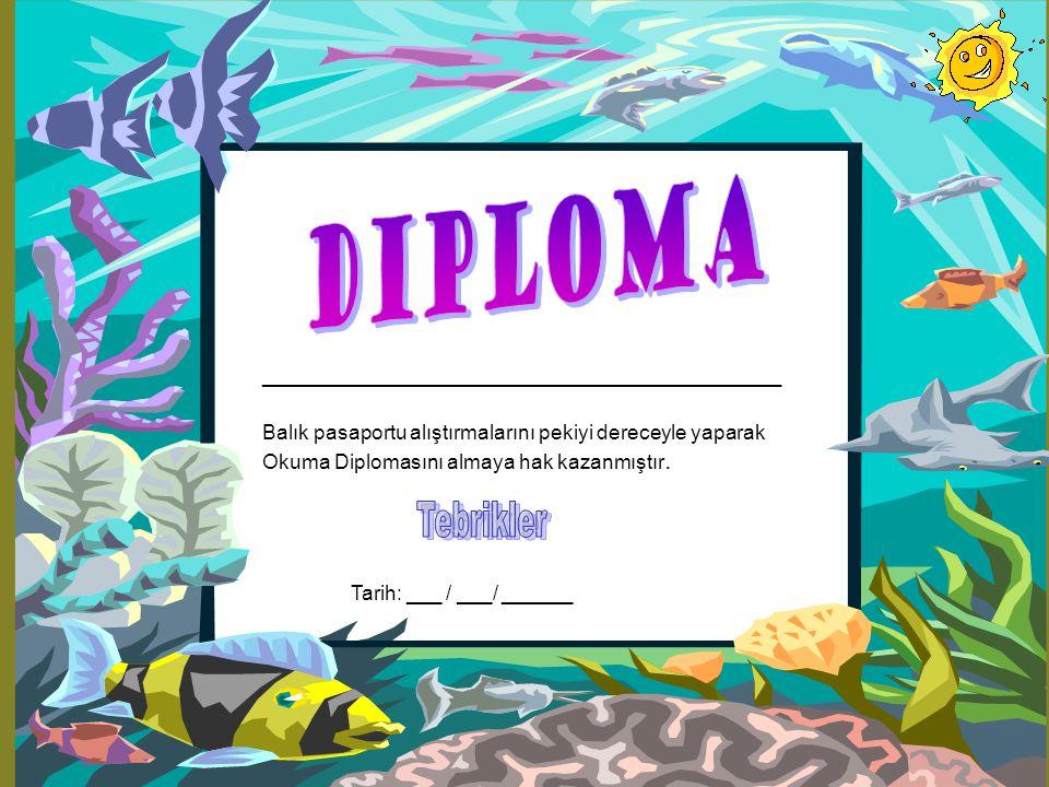 Diploma ____________________________________ Tebrikler