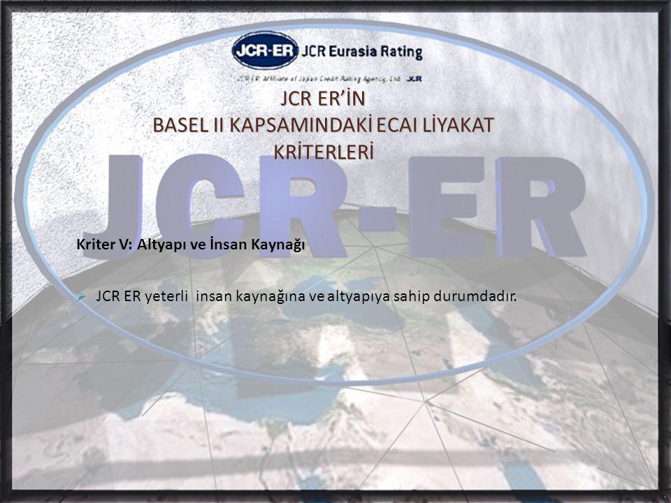 JCR ER'İN BASEL II KAPSAMINDAKİ ECAI LİYAKAT KRİTERLERİ