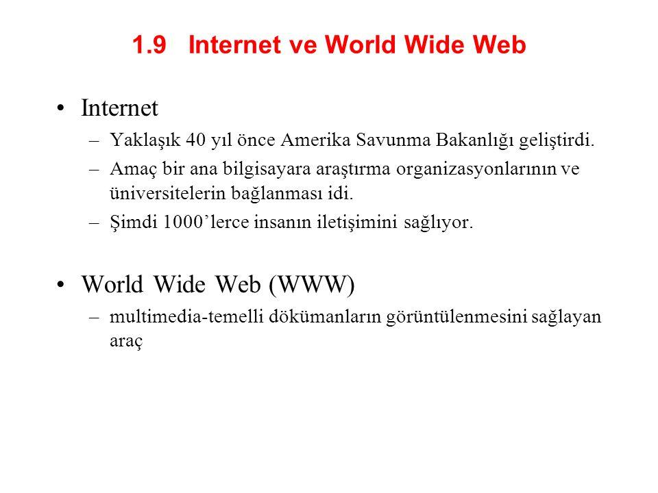 1.9 Internet ve World Wide Web