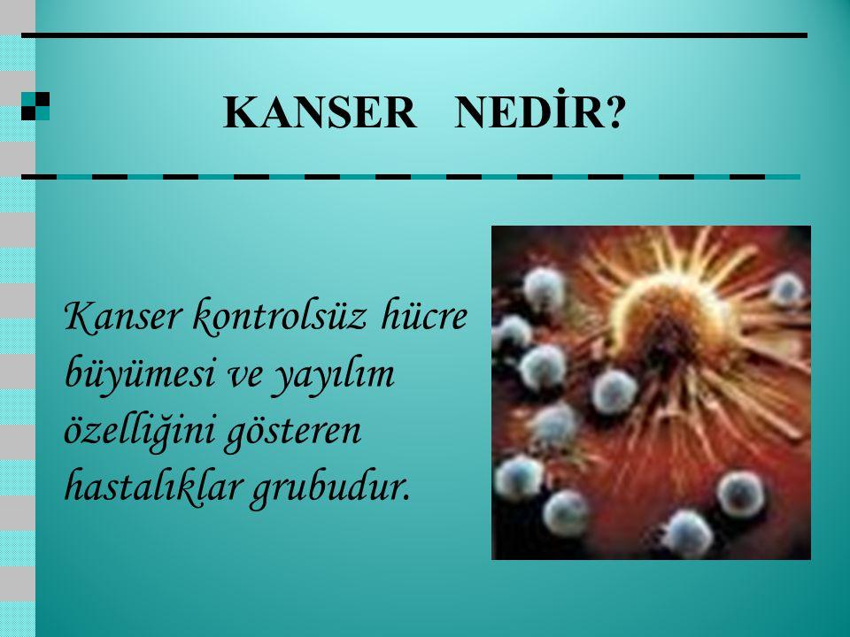 KANSER NEDİR.