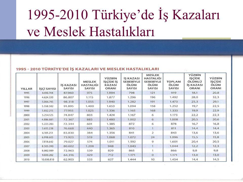 1995-2010 Türkiye'de İş Kazaları ve Meslek Hastalıkları
