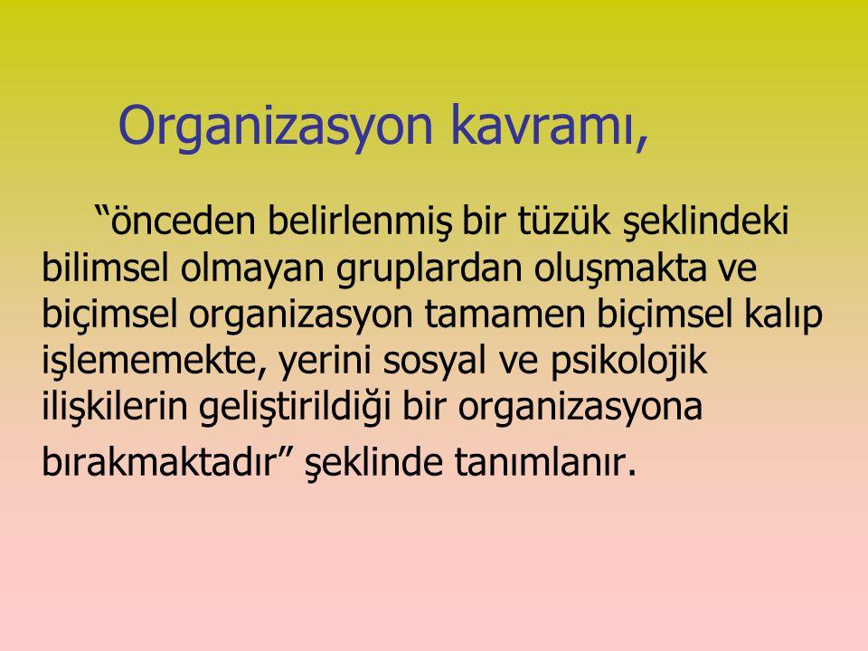 Organizasyon kavramı,