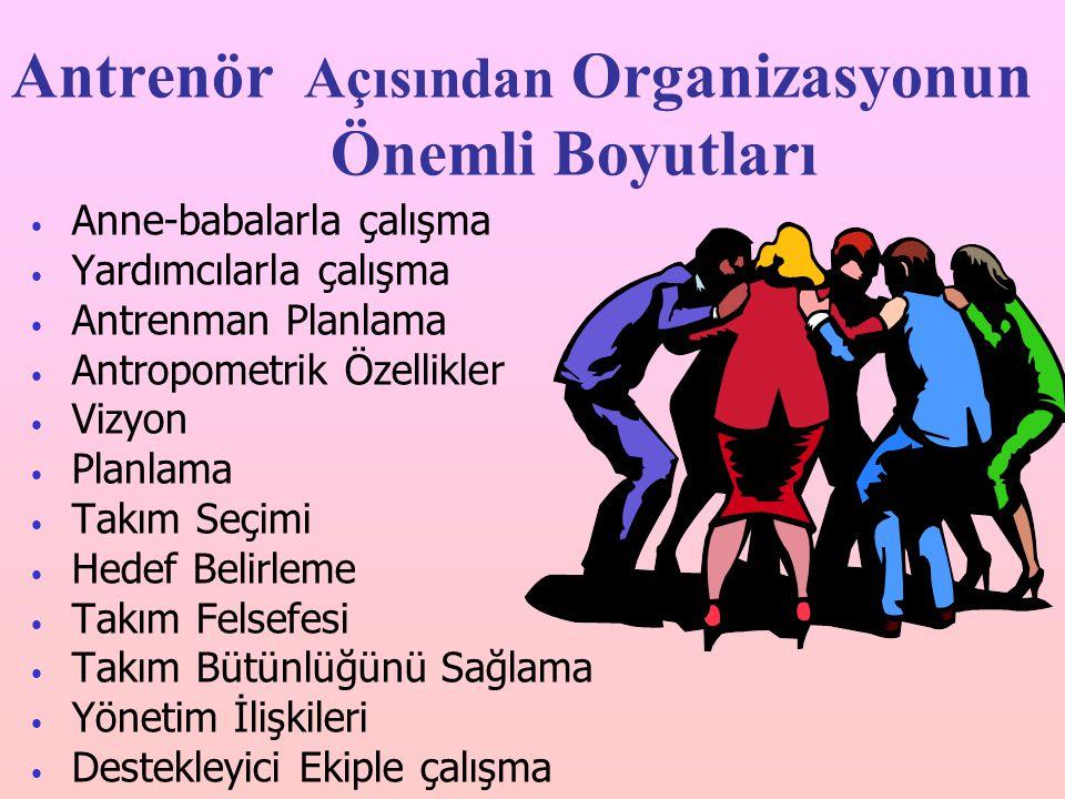 Antrenör Açısından Organizasyonun Önemli Boyutları