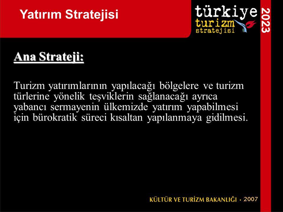 Yatırım Stratejisi Ana Strateji: