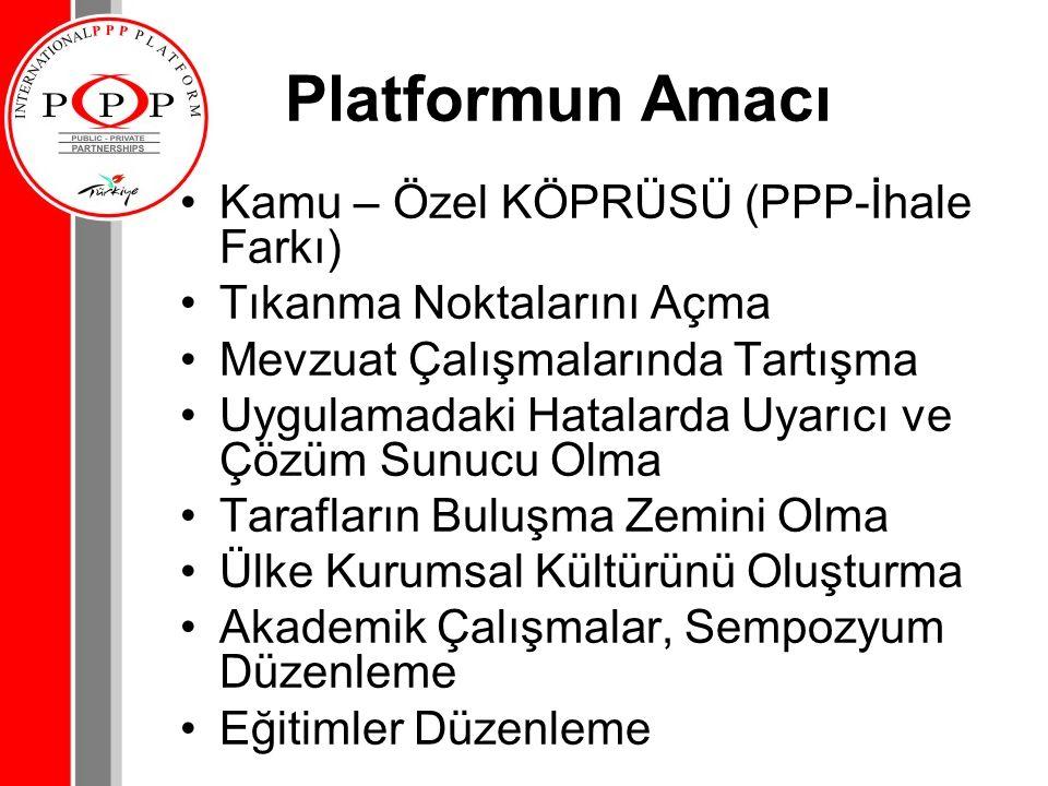 Platformun Amacı Kamu – Özel KÖPRÜSÜ (PPP-İhale Farkı)