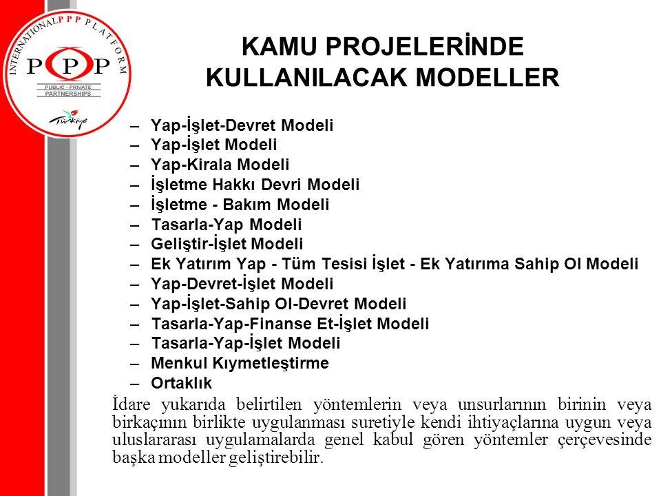 KAMU PROJELERİNDE KULLANILACAK MODELLER