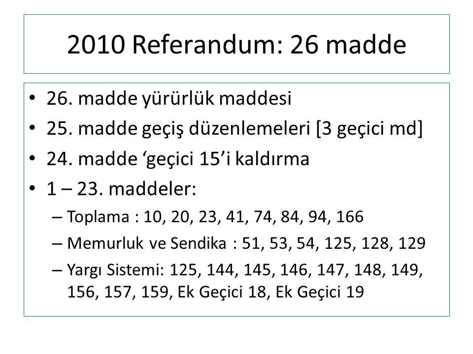 2010 Referandum: 26 madde 26. madde yürürlük maddesi