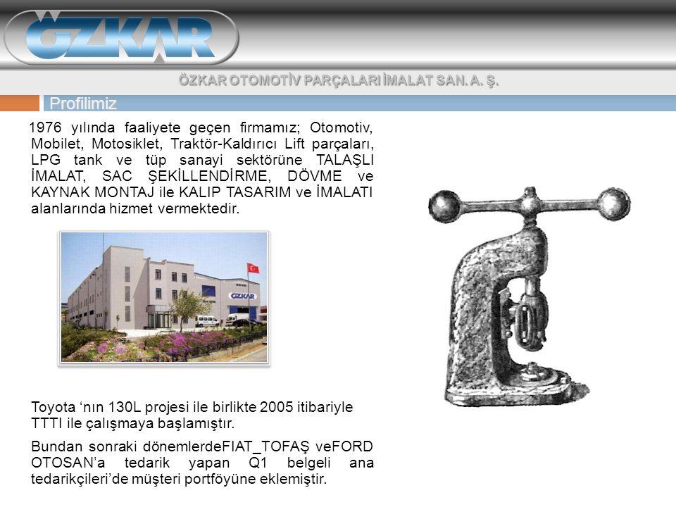ÖZKAR OTOMOTİV PARÇALARI İMALAT SAN. A. Ş.