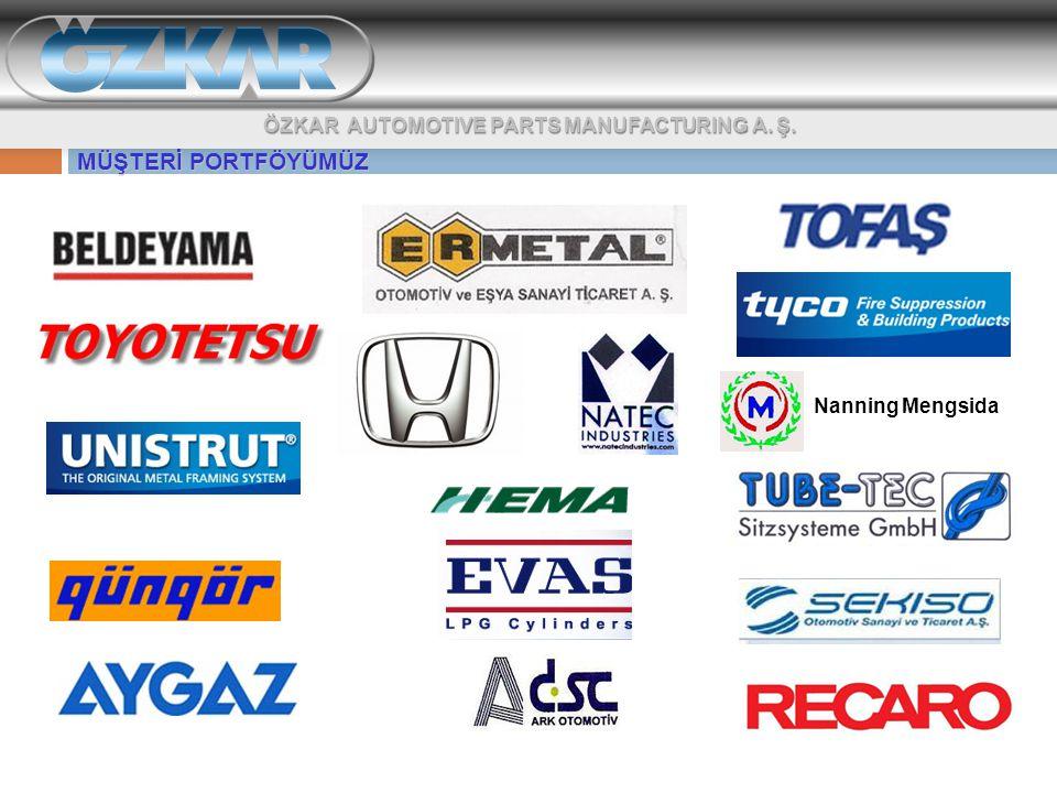 MÜŞTERİ PORTFÖYÜMÜZ ÖZKAR AUTOMOTIVE PARTS MANUFACTURING A. Ş.