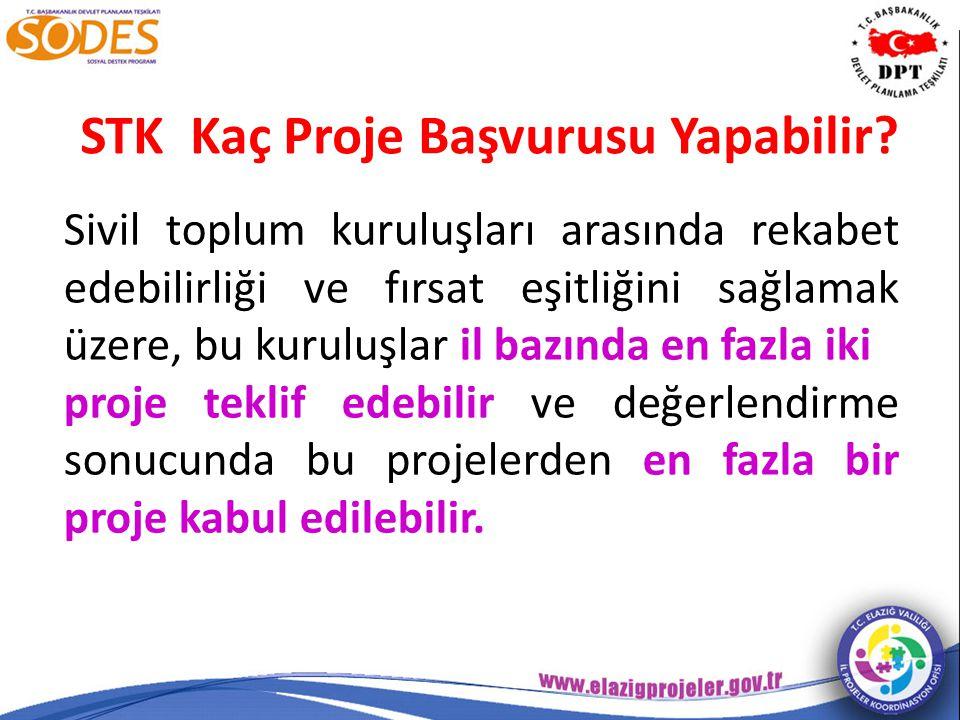STK Kaç Proje Başvurusu Yapabilir