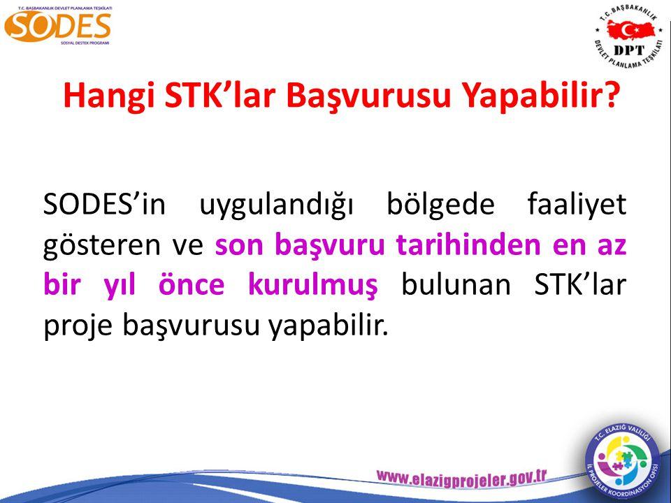 Hangi STK'lar Başvurusu Yapabilir