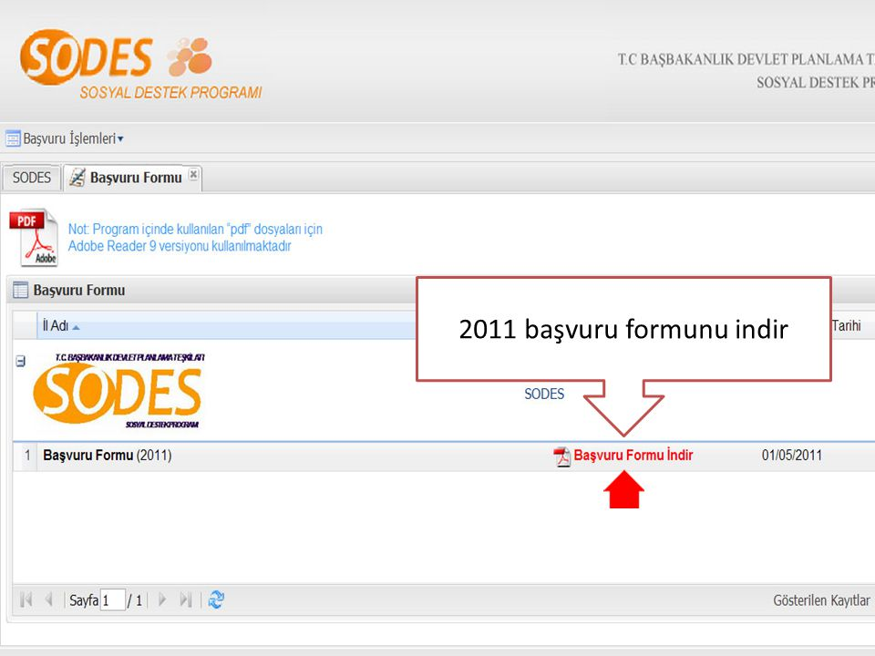 2011 başvuru formunu indir
