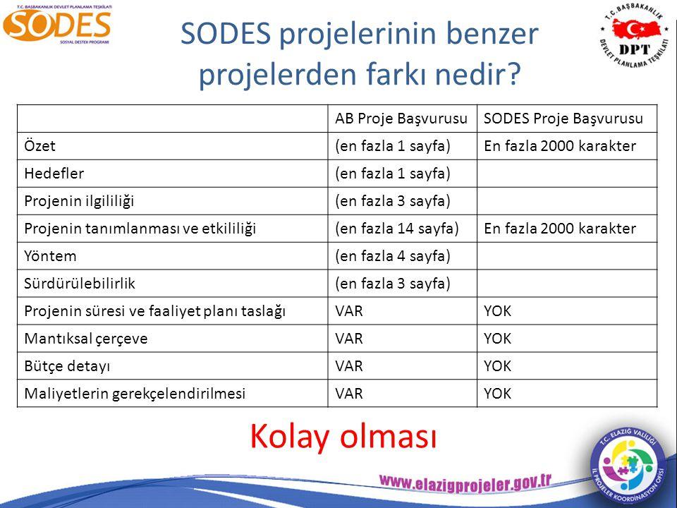 SODES projelerinin benzer projelerden farkı nedir