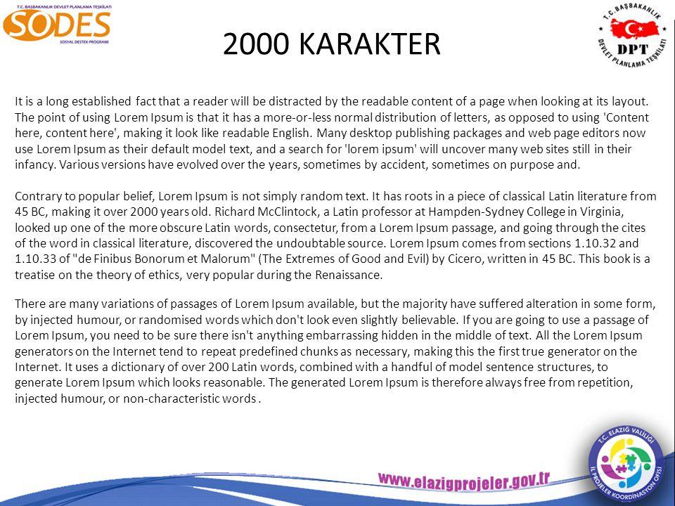 2000 KARAKTER