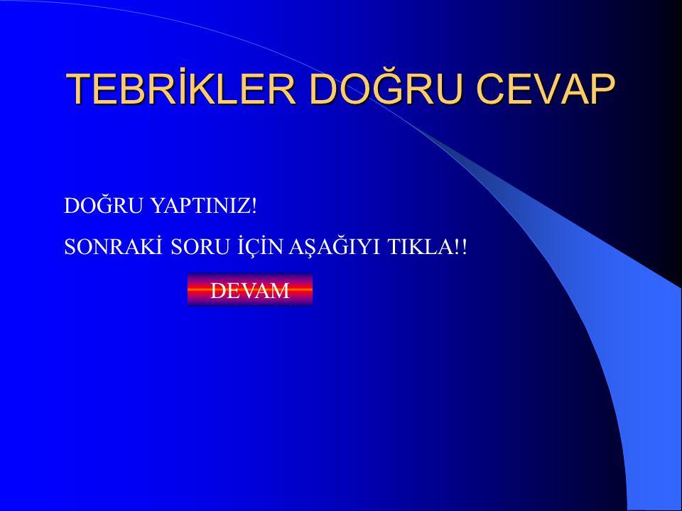 TEBRİKLER DOĞRU CEVAP DOĞRU YAPTINIZ!