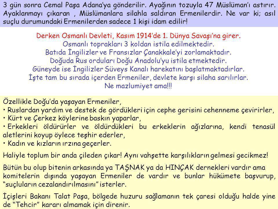 Derken Osmanlı Devleti, Kasım 1914'de 1. Dünya Savaşı'na girer.