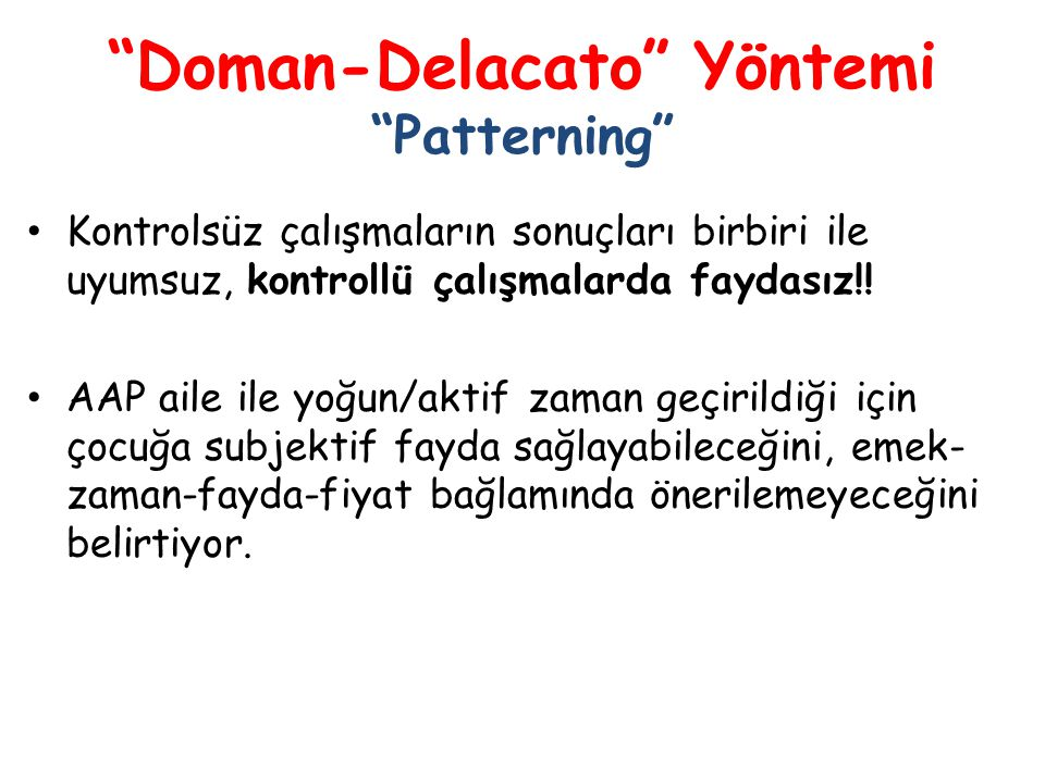 Doman-Delacato Yöntemi Patterning