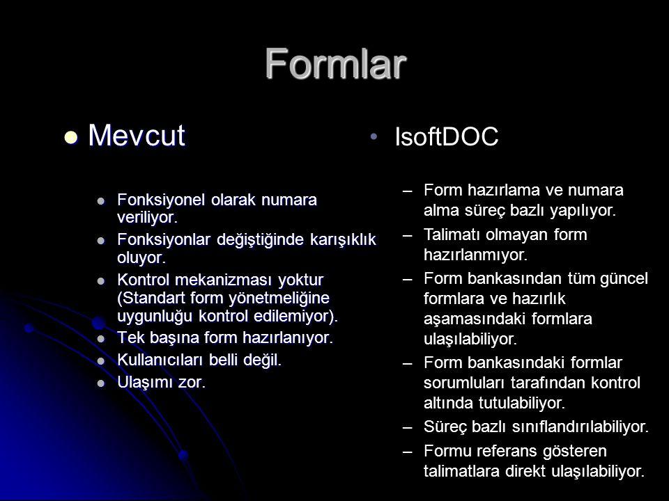 Formlar Mevcut IsoftDOC