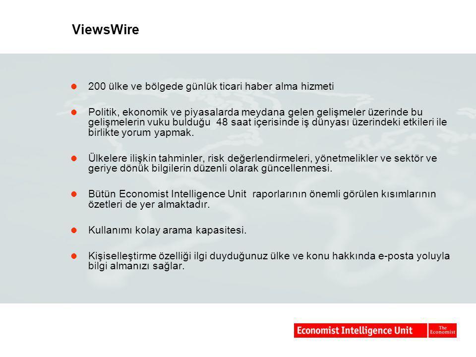 ViewsWire 200 ülke ve bölgede günlük ticari haber alma hizmeti